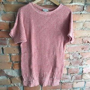 Loft EUC short sleeve sweater in salmon